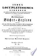 Vollst  ndiges B  cher Lexicon enthaltend alle von 1750 bis 1832 in Deutschland und in den angrenzenden L  ndern gedruckten B  cher