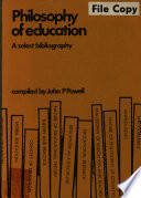 illustration Philosophy of Education, A Select Bibliography