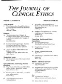 The Journal Of Clinical Ethics : ...