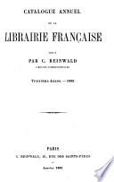 Catalogue annuel de la librairie française 1858-69
