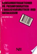 Konsumentreaktioner p   prisinformation i dagligvarubutiker med datakassor