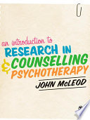 An Introduction To Research In Counselling And Psychotherapy