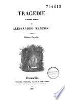 Tragedie e poesie scelte di Alessandro Manzoni .../ Alessandro Manzoni