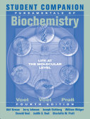 Student Companion to Accompany Fundamentals of Biochemistry, 4th Edition