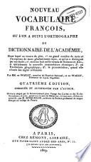 Nouveau vocabulaire françoise, ou, L'on a suivi l'orthographe du Dictionnaire de l'Académie
