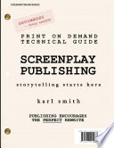 Print on demand Technical Guide  Screenplay Publishing