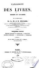 ptie. Médecine humaine et vétérinaire. Equitation. Sociétés littéraires. Bibliographie. Biographie