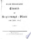 Königlich-Württembergisches Staats- und Regierungsblatt