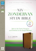 NIV  Zondervan Study Bible  Imitation Leather  Tan Brown  Indexed