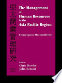 The Management of Human Resources in the Asia Pacific Region