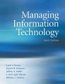 Managing Information Technology