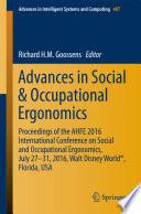 Advances in Social & Occupational Ergonomics