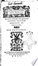 Le osservationi del Dolce    Da lui stesso in questa seconda editione emendate et ampliate