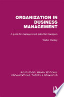 Organization in Business Management  RLE  Organizations