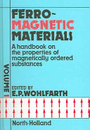 Ferromagnetic Materials Edited By E P Wohlfarth book