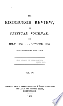 THE EDINBURGH REVIEW, OR CRITICAL JOURNAL: FOR JULY, 1856...OCTOBER, 1856