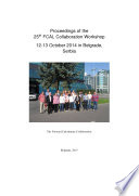 Proceedings Of The 25th Fcal Collaboration Workshop 12 13 October 2014 In Belgrade Serbia