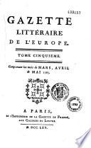 illustration Gazette littéraire de l'Europe