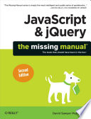 JavaScript   JQuery  The Missing Manual