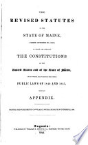 The Revised Statutes of the State of Maine, Passed October 22, 1840