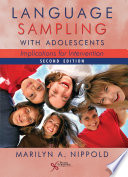 Language Sampling With Adolescents