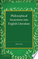 Philosophical Incursions into English Literature