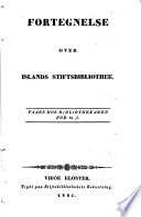 Fortegnelse over Islands Stiftsbibliothek