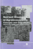 Nutrient disequilibria in agroecosystems