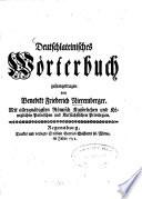 Deutschlateinisches Wörterbuch