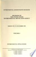 Environmental Administrative Decisions
