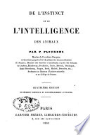 De l instinct et de l intelligence des animaux