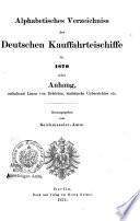 Alphabetisches Verzeichniss der deutschen Kauffahrteischiffe0