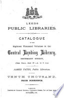 Catalogue of the     Central Lending Library Book PDF