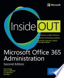 Microsoft Office 365 Administration Inside Out  Includes Current Book Service