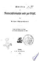 Arthur Schopenhauer's sammtliche Werke hrsg. von Julius Frauenstadt