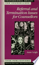 Referral and Termination Issues for Counsellors