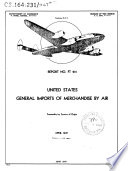 General Imports of Merchandise Into the United States by Air