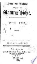 Herrn von Buffons allgemeine Naturgeschichte