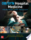 Ob Gyn Hospital Medicine Principles And Practice