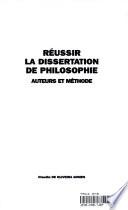 R  ussir la dissertation de philosophie