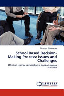 School Based Decision Making Process
