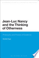 Jean Luc Nancy and the Thinking of Otherness