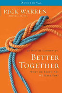 40 Days of Community  Better Together Devotional