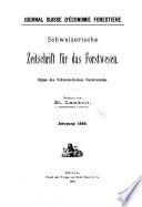 Schweizerische Zeitschrift für Forstwesen