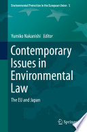 Contemporary Issues in Environmental Law
