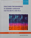 Structured Programming In Assembly Language For The Ibm Pc And Ps 2