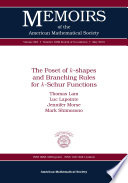 The Poset of $k$-Shapes and Branching Rules for $k$-Schur Functions