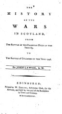 download ebook the history of the wars in scotland, from the battle of the grampian hills in the year 85, to the battle of culloden in the year 1746 pdf epub