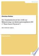 """Der Standardentwurf des IASB zur Bilanzierung von Aktienoptionsplänen (ED 2 """"Share-based Payment"""")"""