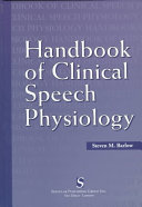 Handbook of clinical speech physiology
